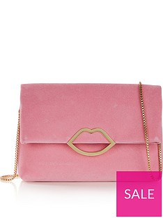 lulu-guinness-issy-lips-velvet-cross-body-bagnbsp--pink
