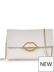 22f1143837c48 LULU GUINNESS Issy Lips Cross-body Bag - Oyster