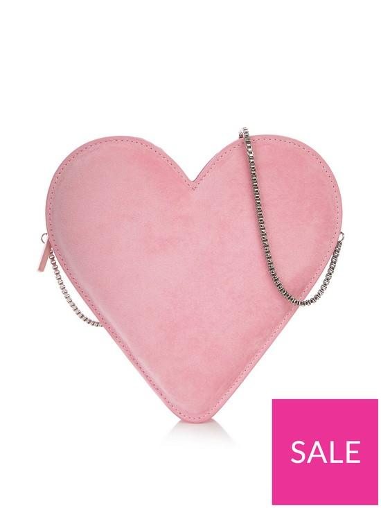 9f209c474aa2 LULU GUINNESS Heart Velvet Freya Cross-Body Bag - Pink | very.co.uk