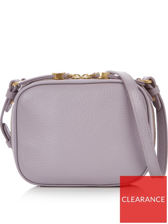 5e8a1c649c LULU GUINNESS Grainy Leather Henny Cross-body Camera Bag - Lavender ...