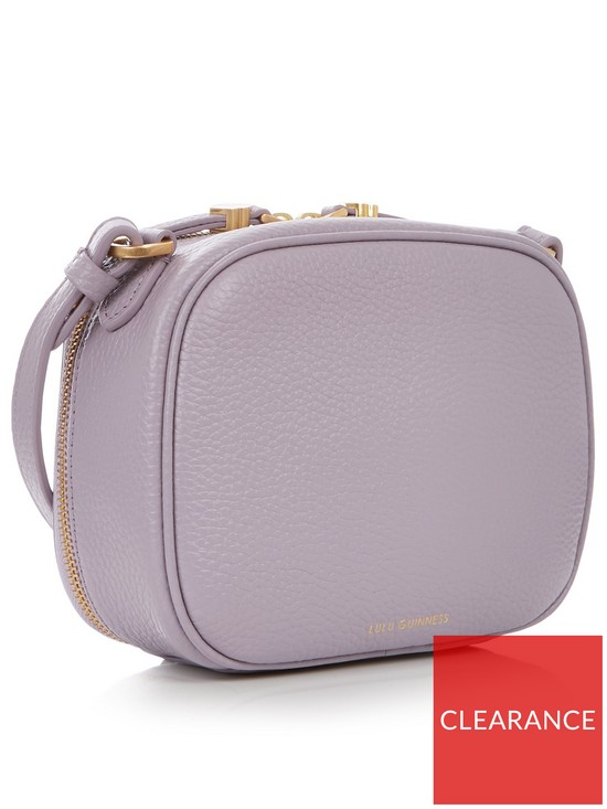 82dac6b978 ... LULU GUINNESS Grainy Leather Henny Cross-body Camera Bag - Lavender.  View larger