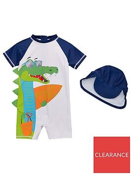 mini-v-by-very-boys-snappy-vibes-crocodile-sunsafe-amp-hat-set-navywhite