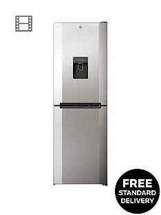 Hoover H1826MNB5XWK 60cm Wide No Frost Fridge Freezer with Water Dispenser - Stainless Steel