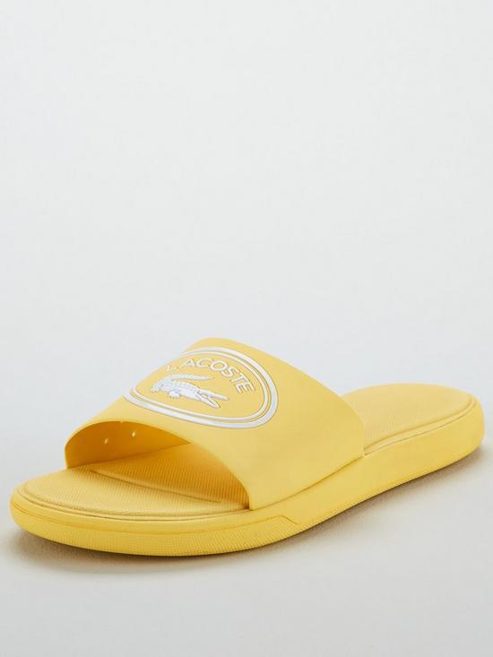 ab0baa1a5457 Lacoste L.30 Slide 119 2 Cfa Flat Sandal - Yellow