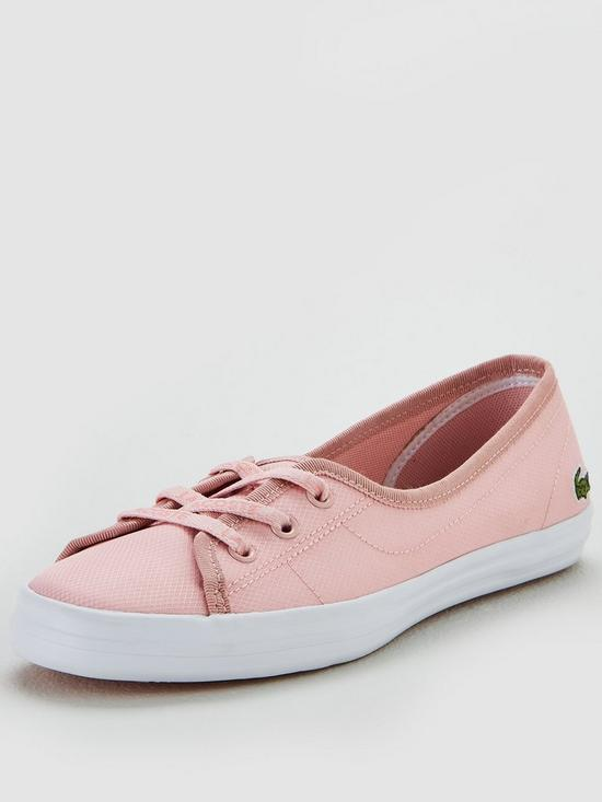 4737c9e0f Lacoste Ziane Chunky 119 2 Cfa Plimsoll - Pink White