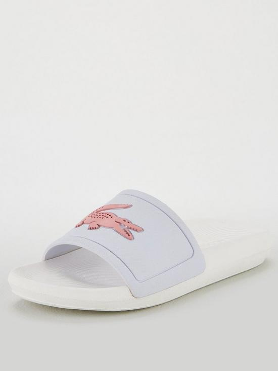 89d87879c Lacoste Lacoste Croco Slide 119 3 Cfa Flat Sandal