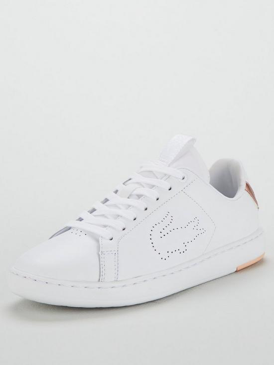 408256938 Lacoste Carnaby Evo Light-WT 1193 Sfa Trainer - White Rose Gold ...