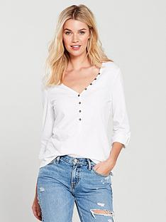 v-by-very-henley-tee-white