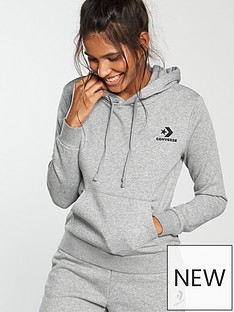 af372c9aab5d Converse Star Chevron Hoodie - Grey Heather