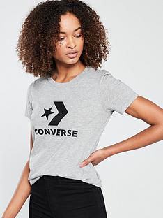 8486d6502a30 Converse Star Chevron Core Tee - Grey Heather