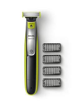 Philips Philips Oneblade Hybrid Trimmer & Shaver With 4 X Click-On Stubble Combs (Uk 2-Pin Bathroom Plug) - Qp2530/25