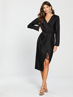 river-island-river-island-wrap-front-midi-dress-black