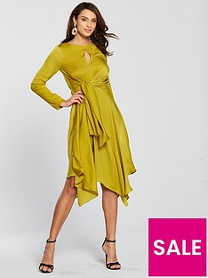 river-island-waist-midi-dress-yellow