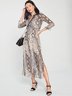 river-island-river-island-snake-print-maxi-dress-grey