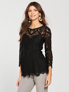 river-island-lace-peplum-blouse-black