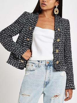 Ri Petite Boucle Jacket - Black
