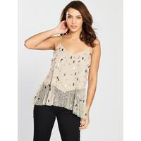 a37328081ff40 River Island Sequin Cami Top - Gold