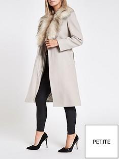 ri-petite-ri-petite-faux-fur-collar-wrap-coat-camel