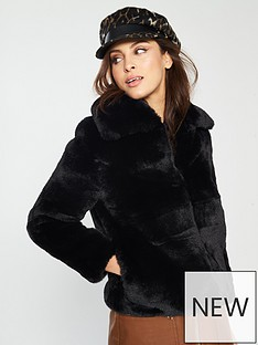 river-island-short-faux-fur-jacket-black