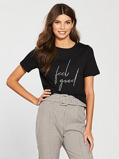 river-island-river-island-diamonte-feel-good-t-shirt-black