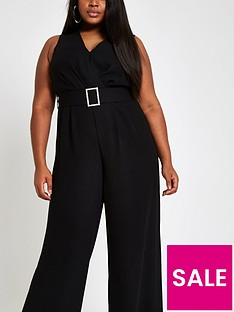 ri-plus-belted-jumpsuit-black