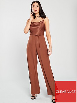 river-island-cowl-neck-jumpsuit-chocolate
