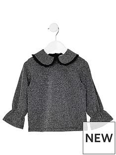 river-island-mini-mini-girls-grey-metallic-frill-collar-top