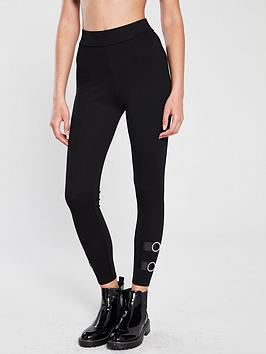 river-island-river-island-diamante-trim-legging-black