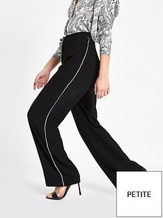 ri-petite-ri-petite-diamante-stripe-wide-leg-trouser-black