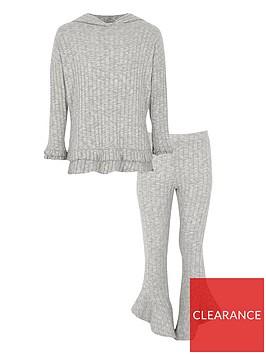 river-island-girls-grey-rib-frill-trim-hoodie-outfit