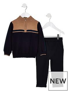river-island-mini-mini-boys-ecru-track-jacket-outfit