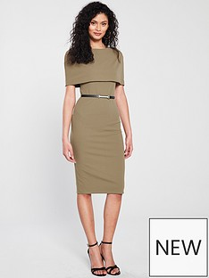 river-island-river-island-cape-sleeve-bodycon-dress-olive