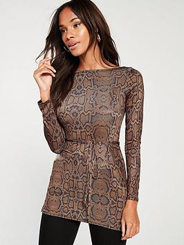 river-island-river-island-snake-print-jersey-top-brown