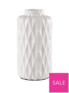 ideal-home-glazed-white-faceted-vase