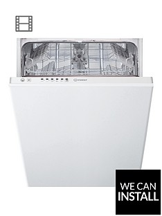 indesit-dsie2b10-10-place-slimline-integrated-dishwasher-with-quick-wash-and-optional-installation-white