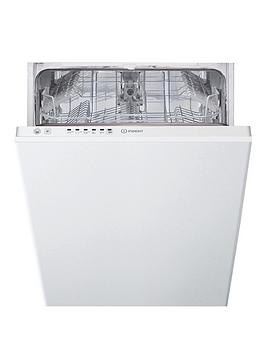 Indesit Dsie2B10 10-Place Slimline Integrated Dishwasher With Quick Wash And Optional Installation - White - Dishwasher With Installation