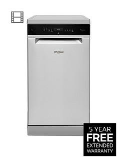 Whirlpool WSFO3T223PCX 10-Place Slimline Dishwasher - Stainless Steel