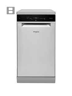 whirlpool-wsfo3t223pcx-10-place-slimline-dishwasher-with-quick-wash-6th-sense-and-power-clean-pro-stainless-steel