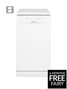 Hotpoint HSFE1B19 10-Place Slimline Dishwasher with Quick Wash - White