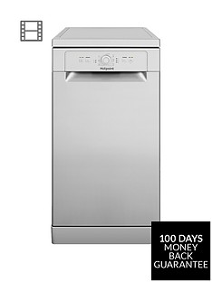 Hotpoint HSFE1B19S 10-Place Slimline Dishwasher with Quick Wash - Silver