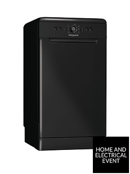 hotpoint-hsfe1b19b-10-place-slimline-dishwasher-with-quick-wash-black