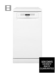 hotpoint-clovernbsphsfo3t223w-10-place-slimline-dishwasher-with-quick-wash-and-3d-zone-wash-white