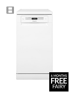 Hotpoint HSFO3T223W 10-Place Slimline Dishwasher with Quick Wash and 3D Zone Wash - White