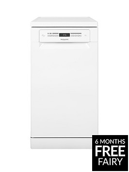 hotpoint-hsfo3t223w-10-place-slimline-dishwasher-with-quick-wash-and-3d-zone-wash-white