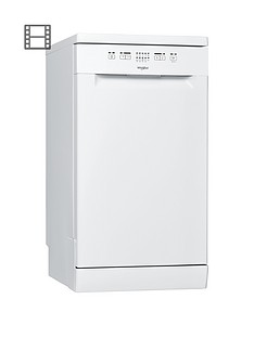 Whirlpool WSFE2B19 10-Place Slimline Dishwasher with Quick Wash - White