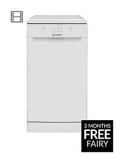 Indesit DSFE1B10 10-Place Slimline Dishwasher with Quick Wash - White