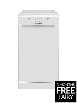 indesit-dsfe1b10-10-place-slimline-dishwasher-with-quick-wash-white