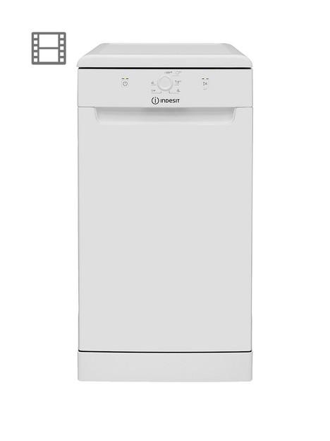 indesit-dsfe1b10ukn-10-place-slimline-dishwasher-with-quick-wash-white