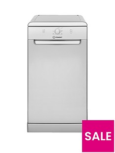 Indesit DSFE1B10S 10-Place Slimline Dishwasher with Quick Wash - Silver