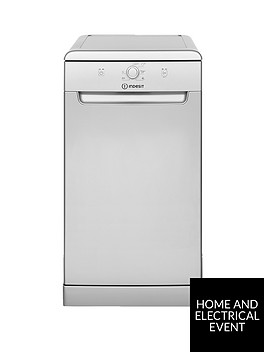 indesit-dsfe1b10s-10-place-slimline-dishwasher-with-quick-wash-silver